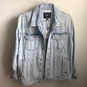 7forallmankind jean jacket size medium